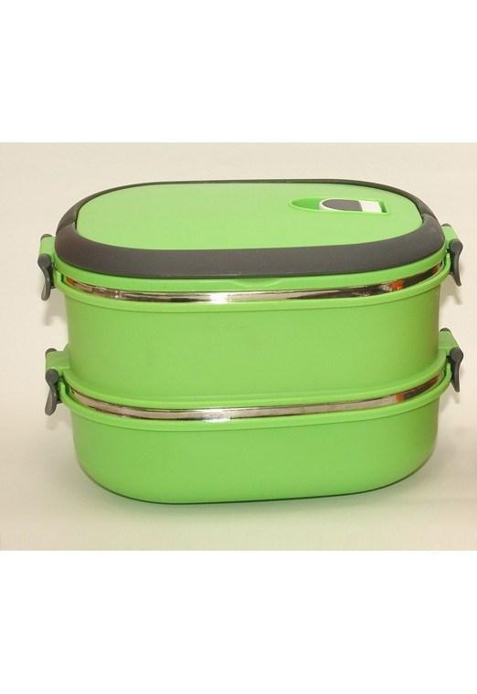 Термос для еды-Т-90,1,8 Л,Термо контейнер,Термос пищевой, Ланч бокс для продуктов, Ланч бокс с 2 судочками