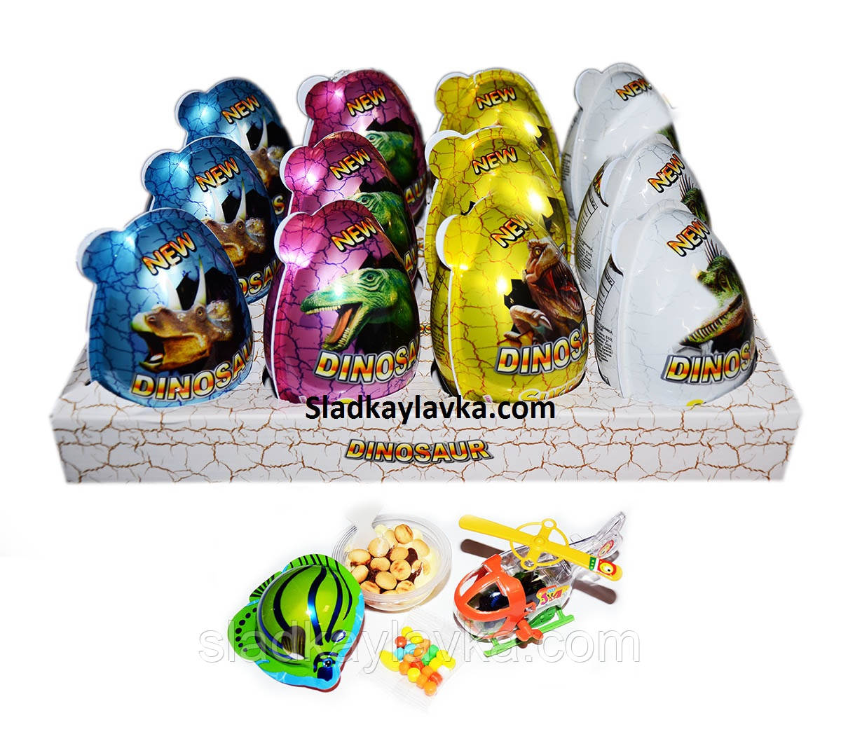 Яйцо шоколадное пластиковое Toy Egg Max Dinosaur 12 шт, 15 гр (China)