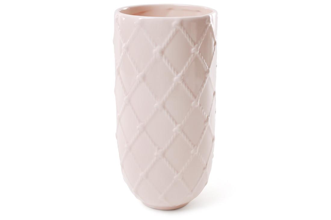 Ваза керамическая 21 см, цвет - светло-розовый BonaDi 902-137