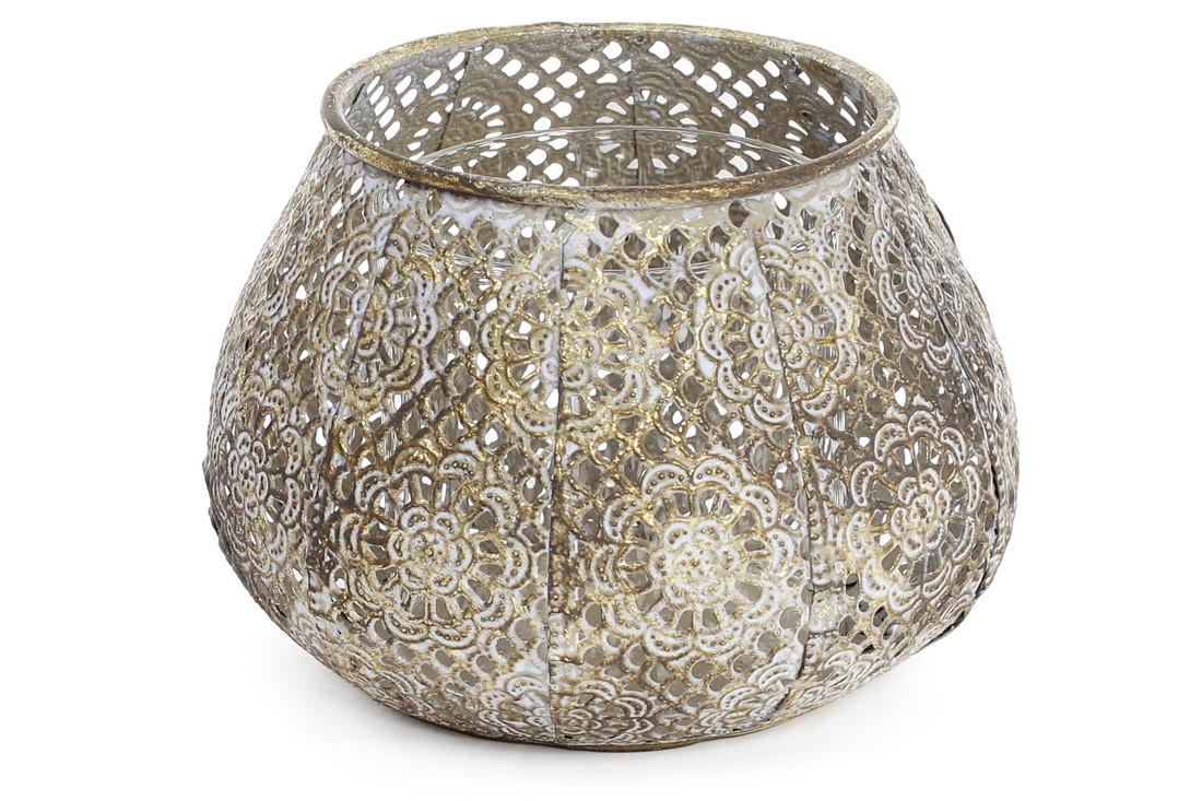 Декоративный металлический подсвечник со стеклянной колбой 15см BonaDi 589-135