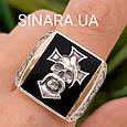 Серебряное мужское кольцо Отаман Байкеров, фото 10