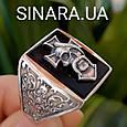 Серебряное мужское кольцо Отаман Байкеров, фото 7