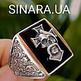 Серебряное мужское кольцо Отаман Байкеров, фото 6