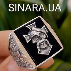 Серебряное мужское кольцо Отаман Байкеров