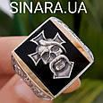 Серебряное мужское кольцо Отаман Байкеров, фото 4