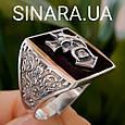 Серебряное мужское кольцо Отаман Байкеров, фото 3