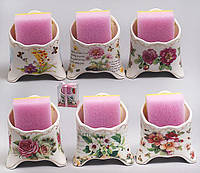 Подставка для губки с губкой 11см, 6 видов BonaDi 318-94