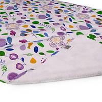 Пеленка двусторонняя непромокаемая Eco Cotton р.50х70 см. Фуксия, цветы Эко Пупс
