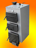 Котел на дровах стальной Carbon (Карбон)12-15 + блок управления KG Elektronik и турбина DP02