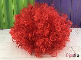 Перука червоний для карнавалу свята Хеллоуїна, вистави для костюма клоуна