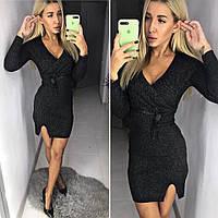 Платье мини вязка люрекс, фото 1