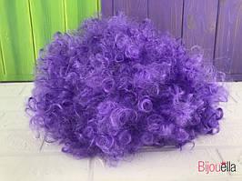 Кучерявий короткий перуку для карнавалу на Хеллоуїн, ранок фіолетовий колір