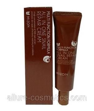 Крем для лица и шеи с улиткой MIZON All In One Snail Repair Cream 35мл