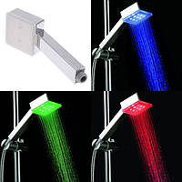 Необычное решение для ванной комнаты! светодиодная насадка на душ, с подсветкой, 4 цветовых режима, пластик