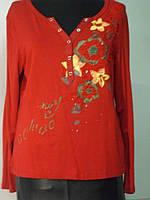 Блуза трикотажная с вышивкой 44р 46р 48р 50р