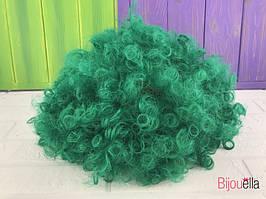 Короткий кучерявий зелений перуку клоуна для карнавалу на Хеллоуїн ранок