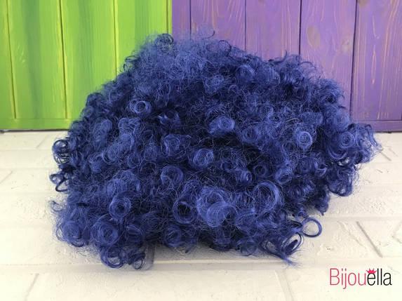 Кучерявий темно-синій перуку клоуна для карнавалу на Хеллоуїн ранок, фото 2