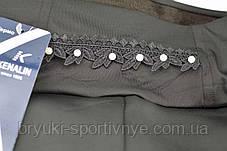 Лосины женские на меху с камнями на поясе, фото 2