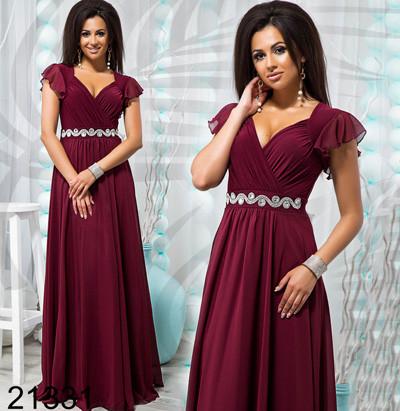 0010d7c2141092c Длинное вечернее платье в греческом стиле бордовый 821331, цена 730 ...