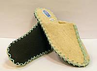 Тапочки из натуральной шерсти женские войлочные с мятным шнурком, фото 1