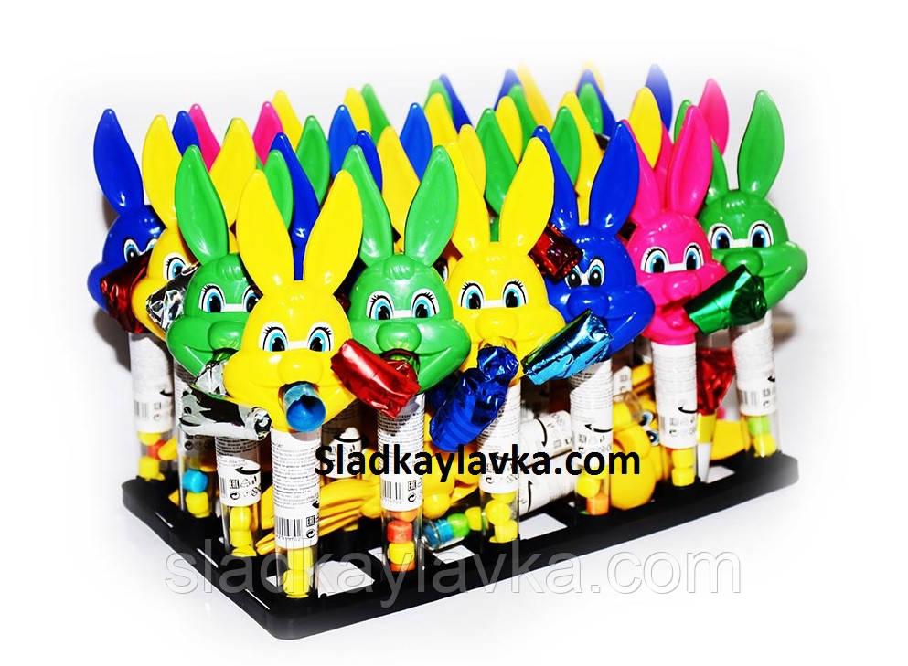 Игрушка на тубе с драже Кролик 30 шт (Китай)