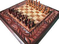 Шахматы-нарды-шашки ручной работы,резьба по дереву, фото 1