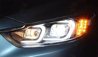 Передние фары Led тюнинг оптика Mazda 6 GJ