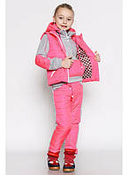 Спортивный утепленный костюм тройка для девочки, фото 1
