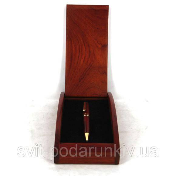 Набор офисный настольный подарочный из дерева 31-02 футляр ручка шариковая ручка перьевая