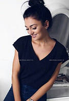 Свободная футболка черного цвета 013/02, фото 1