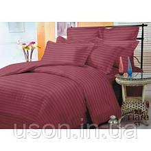 Комплект постельного белья страйп сатин Тиара двуспальный размер 53