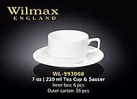 Чашка чайная с блюдцем (Wilmax) WL-993008