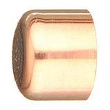"""Заглушка мідна для мідної труби 2.5/8"""" (66,68 мм), фото 2"""