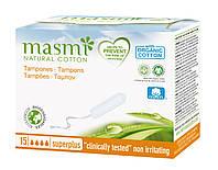 Masmi органічні тампони Super Plus без аплікатору 15 шт.