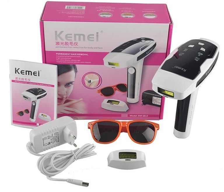 Лазерный фото-эпилятор Kemei TMQ-KM 6812