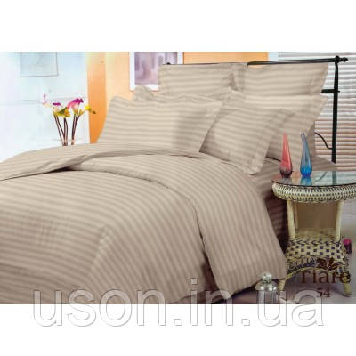 Комплект постельного белья страйп сатин Тиара евро размер 54