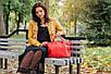 Женская кожаная сумочка 23 красный флотар 01230107, фото 4