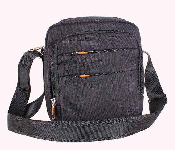 Мужская тканевая сумка через плечо NL6339-21 черная