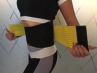 """Фитнес пояс """"идеальная талия"""" Желтый для тренировок размер S"""