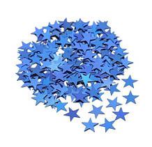 """Синий конфетти """"Звездочки"""" 10г, размер одной звёздочки 1см, жесткая фольга, двухсторонние"""