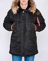 Мужская парка  зимняя Olymp Аляска N-3B Old School, топовая теплая качественная, хит продаж (черная), ОРИГИНАЛ