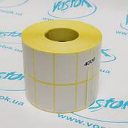 Стикера в 2 ряда 40х25 мм этикетка 4000 штук самоклеющаяся