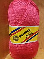Акриловая пряжа (100% акрил, 100г/230м) Kartopu Flora K771 (ярко-розовый)