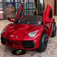 Электромобиль детский Lamborghini 1188 вишневый