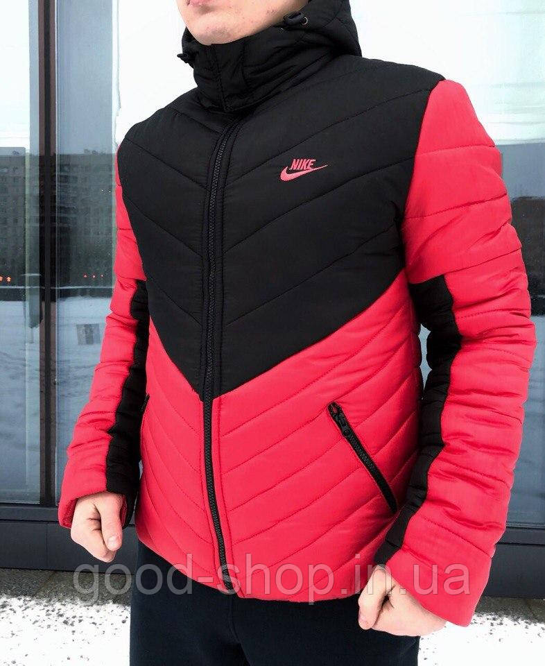 1a7130cd Мужская Зимняя Куртка Nike Красного и Черного Цвета (люкс Копия) — в ...
