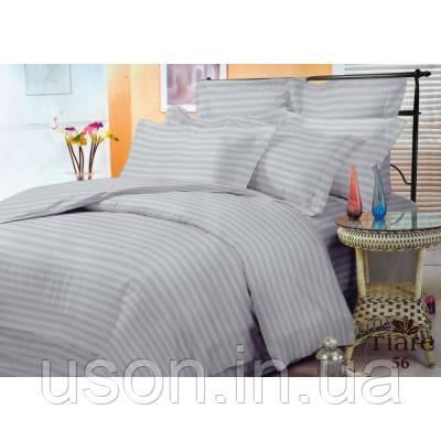 Комплект постельного белья страйп сатин Тиара евро размер 56