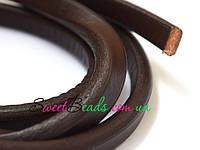 Шнур толстый кожаный Regaliz 10*6мм, коричневый