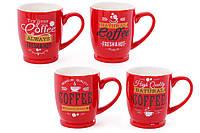 Кружка фарфоровая кофейная COFFEE, 4 вида, 330мл BonaDi 588-147
