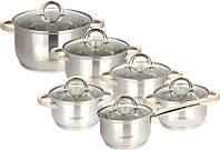 Набор посуды ( набор кастрюль ) 12 предметов MR2106
