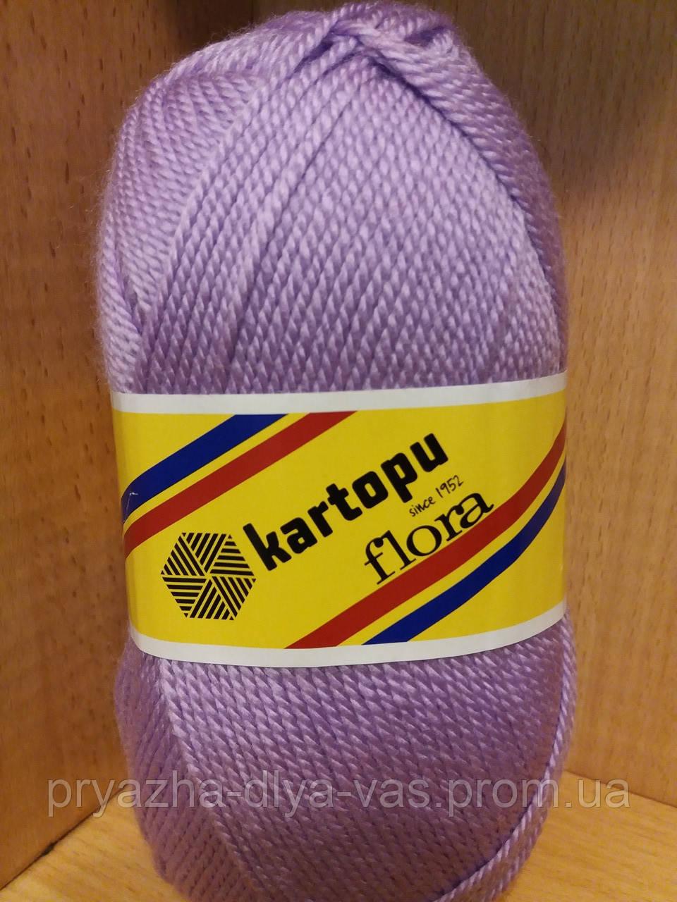 Акриловая пряжа (100% акрил, 100г/230м) Kartopu Flora K708 (сирень)